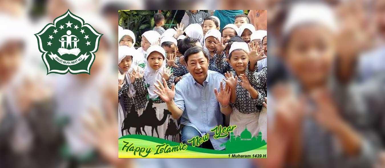 Anak-anak PAUD ASSOVA menyampaikan SELAMAT Tahun Baru Islam 1 Muharram 1439 Hijriyah